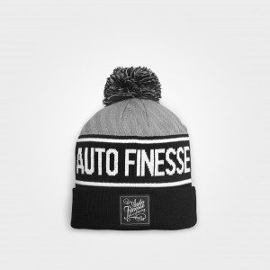 Bobble Knitted Beanie (Grey)