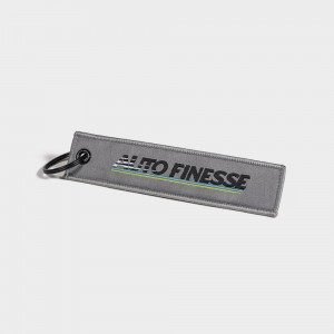 Retro Race Tag - Grey