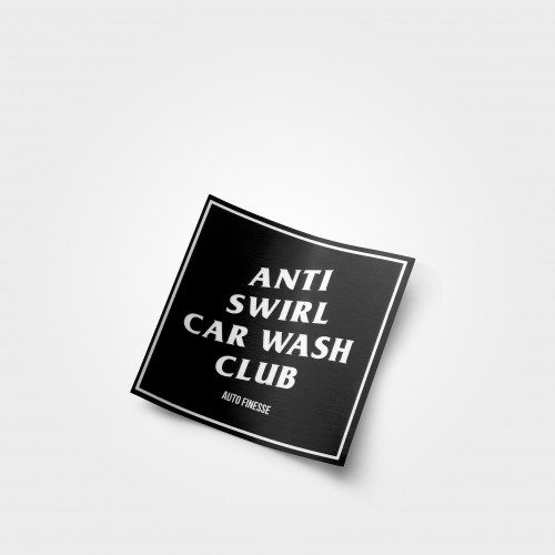 Anti Swirl Car Wash Club Sticker